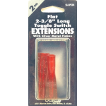 056BP504 - Toggle Switch Extension Red Long Flat 2/Card