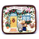 1253814A - Home Sweet Home Wall Plaque - Bear With Animal Friends On Porch