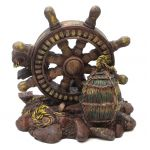 1256068A - Old Relics Of The Sea - Resin Antique Nautical Wheel
