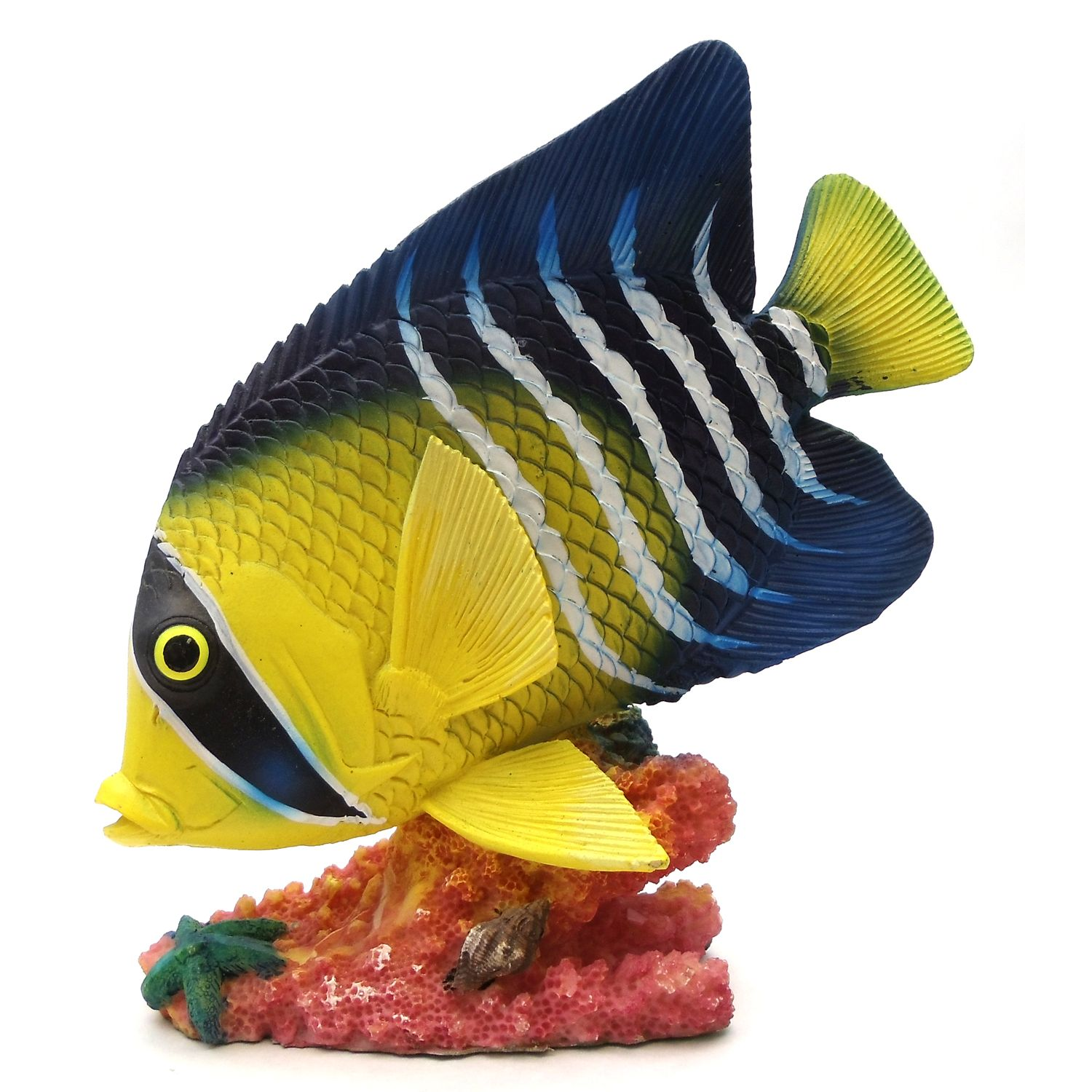 Clearance items resin decorative tropical fish yellow for Yellow tropical fish