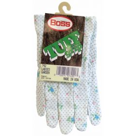 742 - Boss Tuff Grip Ladies Cotton Work Gloves (1 Pair)