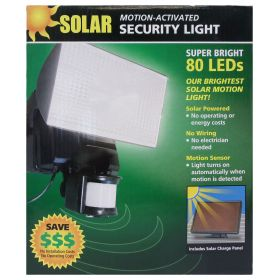 40226-B - Maxsa Solar Motion Activated 80 Led Security Floodlight In Black