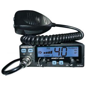 ANDY - President AM/FM Dual Voltage CB Radio