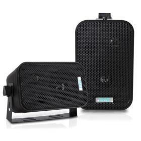 "PYLE - PDWR30-B 3-1/2"" 300 Watt Indoor Or Outdoor Waterproof Boxed Speaker Pair - In Black"