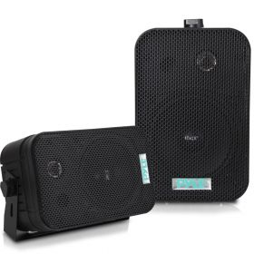 "PYLE - PDWR40-B 5-1/4"" 400 Watt Indoor Or Outdoor Waterproof Boxed Speaker Pair - In Black"