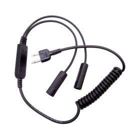 RCS1 - Klein Helmet Headset Connector for Cobra and Midland Handheld Radios