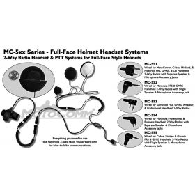 MC559 - Magnum Full Face Headset Wired For Vertex Radios