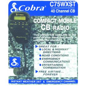 C75WX-DISPLAY - Cobra C75WXST Counter Display W/Literature Pouch