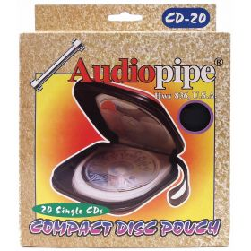 CD20-B - Audiopipe 20 Card Carrying Case ( Black )