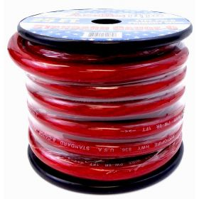 PW025-R - Audiopipe 25' 0 Gauge Oxygen Free Power Cable (Red)