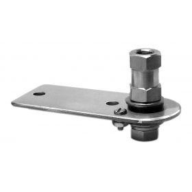 "K10 - Kalibur 3-1/2"" Flat Stainless Steel Antenna Mount With Lug Stud"